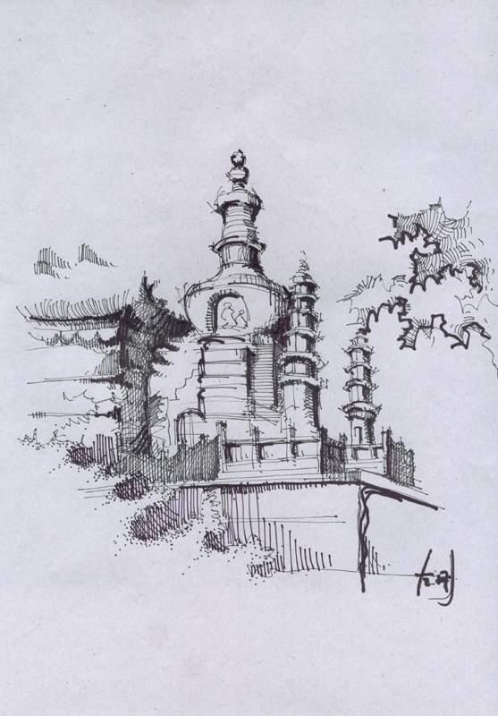 zg的马克笔 钢笔画 方案 长春工程学院建筑系的一个大工